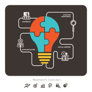 38312716 - business teamwork concept with lightbulb icon illustration